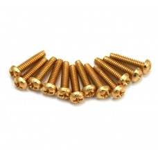 099-4926-000 Genuine Fender Pickup and Selector Switch Mounting Screws (12) (Gold) 0994926000