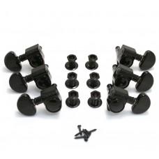 102BC Black Grover Roto 3+3 Tuners