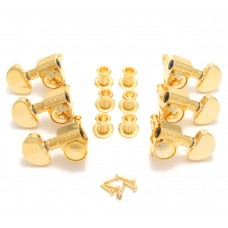 102G Gold Grover Roto 3+3 Tuners