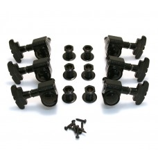 109BC Grover Black Super Rotomatic 3+3 Guitar Tuners