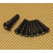 18APP42 Genuine Martin Black w/Pearl Abalone Inlay Bridge Pin Set