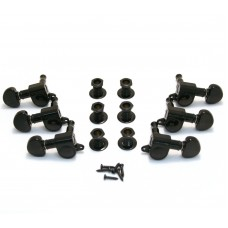 205BC Grover Black Sealed Mini Rotomatic Guitar Tuners 3x3 10mm 14:1