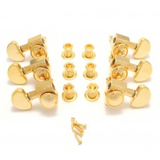 502G Grover Roto-Grip Gold 3+3 Locking Tuners