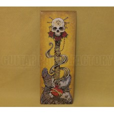 910-0318-000 Fender David Lozeau Large Metal Picture Sign Sacred Heart w/ Strat 9100318000