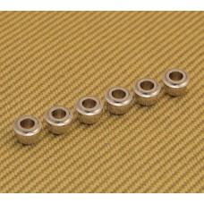 AB-N (6) Nickel Finish Guitar Tuner Adapter Bushings 10mm Peghead to 6mm Post