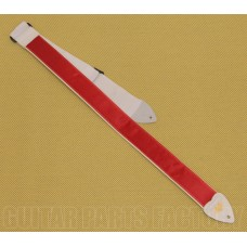 AL-S-R 2 Inch LM Products Alexis Red Satin Guitar Strap Guitar/Bass