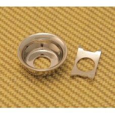 AP-0275-001 Nickel Round Input Cup Guitar Jack plate for Telecaster®