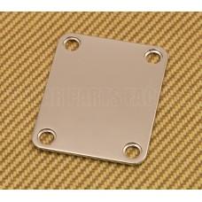 AP-0600-001 Gotoh Nickel 4-bolt Neck Plate w/Screws for Fender® Strat/Tele/Bass