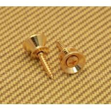 AP-0670-002 (2) Gotoh Gold Strap Buttons/Screws For Fender® Guitar & Bass