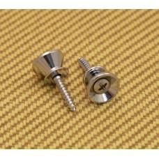 AP-0670-010 (2) Gotoh Chrome Strap Buttons/Screws For Fender® Guitar & Bass