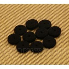 AP-0674-023 (10) Black Strap Button Felt Washers For Guitar & Bass
