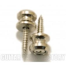 AP-0683-001 (2) Nickel Schaller Buttons & Screws for Strap Locks