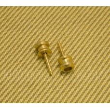 AP-0683-002 (2) Gold Genuine Schaller Buttons & Screws for Straplocks
