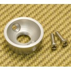 AP-5270-011 Round Satin Chrome Electrosocket Jack Plate Telecaster/Tele Guitar