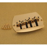 BB-MM4-G Gold 4-String Music Man Style Bass Bridge w/ Mounting Screws