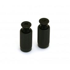 BP-0195-003 (2) Schaller Black Original Floyd Rose Tremolo Studs & Body Inserts