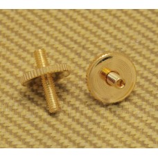 BP-2393-002 Gold Metric ABR Tune-o-matic Style Bridge Studs w/Thumbwheels
