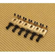 BS-SI-G Gold Steel Import Narrow Saddles fits Fender Strat® Guitar Stamped