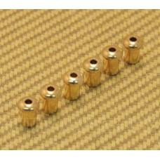 BTSF-5-G (6) Custom 5mm Gold Body Top String Ferrules