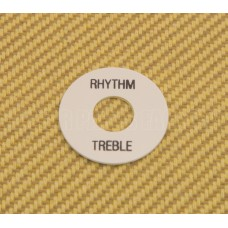 DR-003-01 White Rhythm/Treble Switch Ring Black Lettering