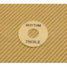 DR-003-02 Cream Rhythm/Treble Switch Ring Black Lettering