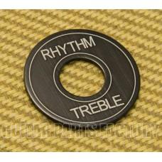 DR-003-AB Standard Black Aluminum Rhythm/Treble Toggle Guitar Select Switch Ring
