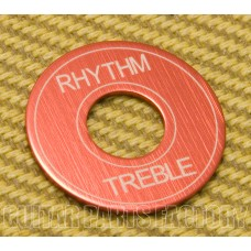 DR-003-AR Standard Red Aluminum Rhythm/Treble Toggle Guitar Select Switch Ring