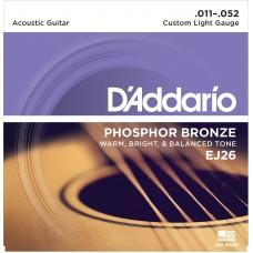 EJ26 D'Addario Phosphor Bronze Acoustic Custom Light Guitar Strings