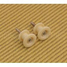 EP-005-06 Plastic Danelectro Style Cream Strap Buttons