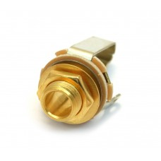 EP-0055-002 Switchcraft Gold 1/4 Mono Jack For Guitar & Bass