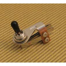EP-0065-000 Chrome Right Angle 3-Way Toggle Switch w/ Black Tip