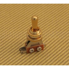 EP-0066-022 Gold Shorty Toggle Switch W/ Gold Tip