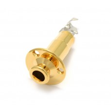 EP-4605-002 Gold Stereo Endpin Jack w/ Flange
