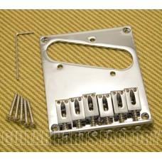 GB-TEC-C Chrome Modern Style High Mass Bridge for Fender Telecaster/Tele®