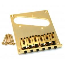 GB-TEC-G Gold Heavy Modern High Mass Bridge Fender Telecaster Tele®