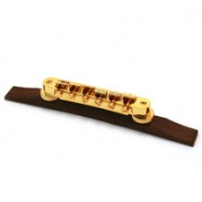GB-TRB-G Gold tunematic bridge with rosewood base