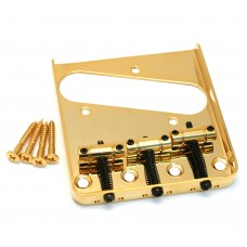 GB-TTS-G Gold 3-Saddle Guitar Bridge For Tele® Telecaster Guitar