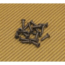 GS-0001-007 (20) Nickel Aged Finish Pickguard Screws for Fender Bass/Guitar #4