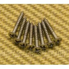 GS-0008-LC Long Chrome Humbucker Ring Screws (8) for Guitar/Bass