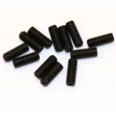 (12) BLACK METRIC SADDLE SCREWS FOR GUITAR
