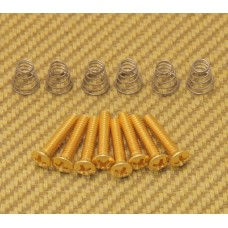 GS-0064-002 Vintage Gold Countersunk Pickup/Switch Screws/Springs Fender Strat®