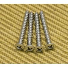 GS-3005-010 (4) Chrome Short Neck Screws #8 x 1-3/8