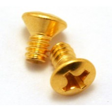 (2) GOLD COUNTERSUNK FOR USA LEVER SWITCH