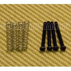 GS-8397-003 Pack of 4 Black Metric M3 Humbucker Mounting Screws & Springs