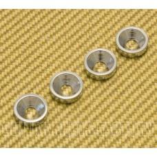 HB-008-CR (4) Chrome Neck Joint Bushings for Guitar/Bass