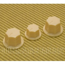 JBK-IMP-C Cream Press-Fit 6mm Jazz Bass Knobs for Import J Basses