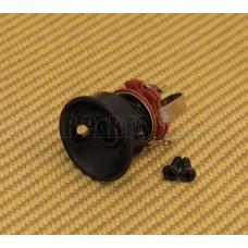 JP-SOCK-B Black Socket Style Jackplate Jack Plate w/Jack for Telecaster/Tele®
