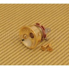 JP-SOCK-G Gold Socket Style Jackplate Jack Plate w/Jack for Telecaster/Tele®
