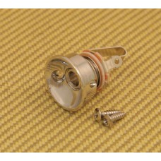 JP-SOCK-N Nickel Socket Style Jackplate Jack Plate w/Jack for Telecaster/Tele