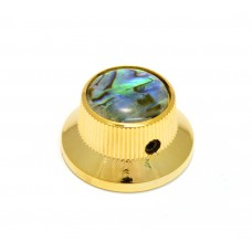 K-MBAB-G (1) Gold/Abalone Metal Bell Knob